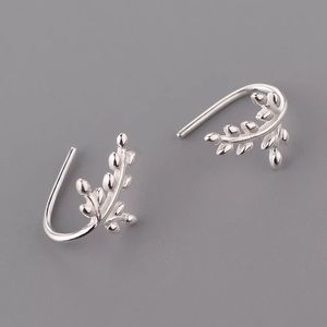 🛍💯 925 Sterling Silver Leaf Style Stud Ear…